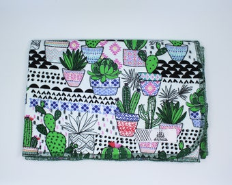 "Cactus Extra Large Receiving Blanket - 36"" x 42"""