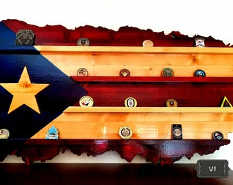 Puerto Rico Flag challenge Coin Holder