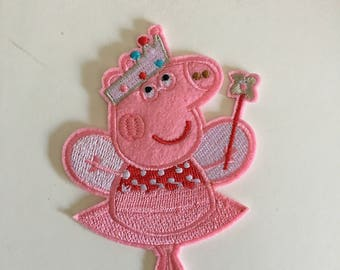 Peppa Pig Inspired Patch Iron-On/Sew-On