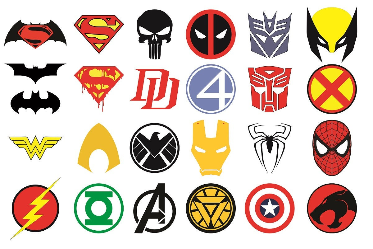 superhero logos vector superhero svg superhero clipart