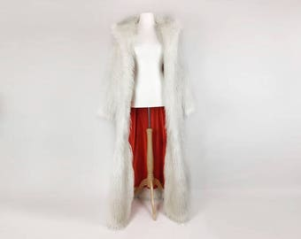 Full Length Faux Fur Coat with Collar - Drag/Costume/Cosplay