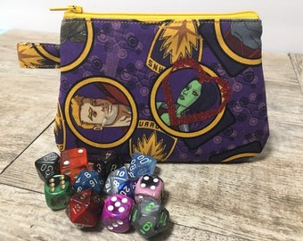 Guardians of the galaxy vol two StarLord Gamora change purse mini dice bag Groot rocket raccoon RPG One of a kind Valentine's Day gift