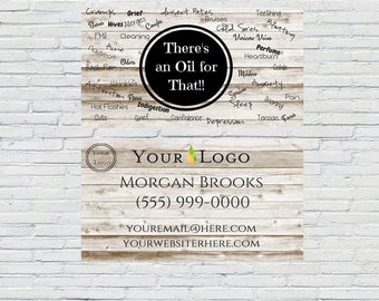 Essential Oil Business Card, Wood, Printable, Download, Customized, Oil Usage, Small Business, Marketing, Independent Distributor, Wellness