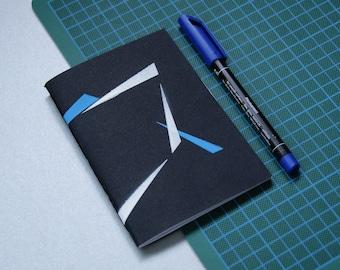 Notebook A6 graphics - journal - sketchbook drawing sketchbook - notebook