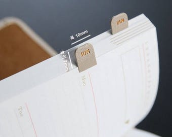 Ver.2 Leather Diary Index Sticker [ 6 Colors ] / Diary Index Sticker - Leather Index Sticker - Planner Sticker - Index Tabs