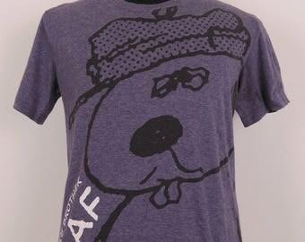 Vintage Snoopy T-Shirt Cartoon Series Wear Top Tee Size L