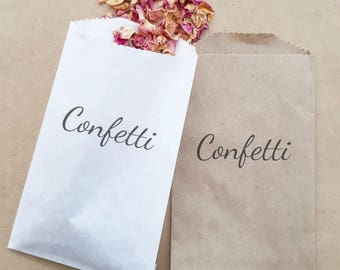 Wedding Confetti Paper Bag Stamped Exit Ceremony Toss x 20