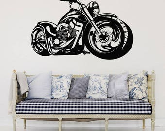 Lovely Wall Decal Motorcycle Decals Motorbike Decal Harley Wall Decal Harley  Davidson Wall Decal Motor Bike Vinyl Part 10