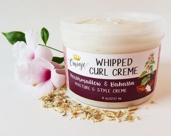 Whipped Curl Creme | Moisturizing Styling Cream - Marshmallow Root & Babassu Oil