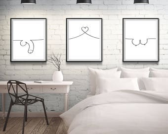 Bedroom Wall Art | Etsy