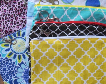 Zipper Bag (large); Cosmetic Pouch; Accessory Bag; Gift; Monogram; Storage; Organizer