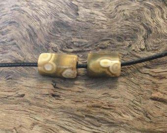 Hand Carved Ocean Jasper Beads.