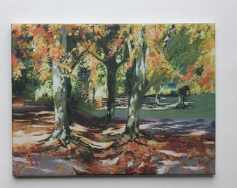 Landscape painting in acrylic on canvas
