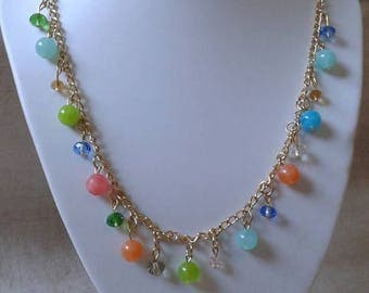 "stunning necklace ""harmony of multicolored beads"""