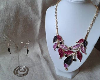 """finery """"Symphony of roses and rhinestone leaves"""""""