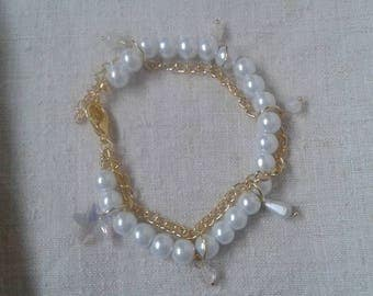 "beautiful bracelet ""white as snow"""