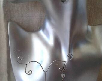 """Earrings """"bronze little bird"""""""