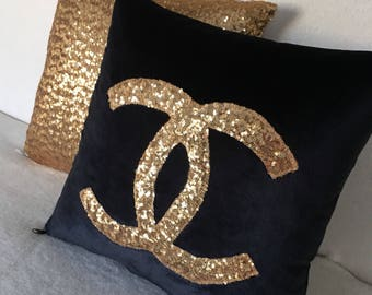 Gold Chanel Pillow