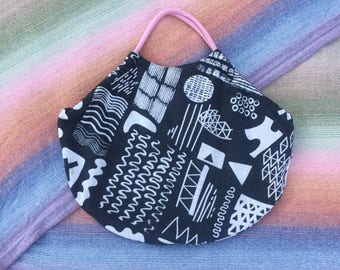 Slouch Tote Bag / Babywearing Bag / Nappy Bag / Beach Bag made from Ankalia Etch Kohl Wrap Scrap