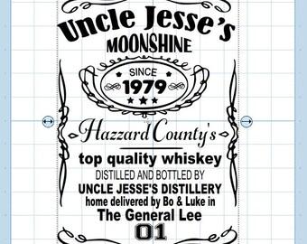 Uncle Jesse's moonshine SVG