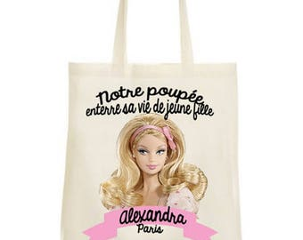 Our doll party bag Tote his bachelor party girl