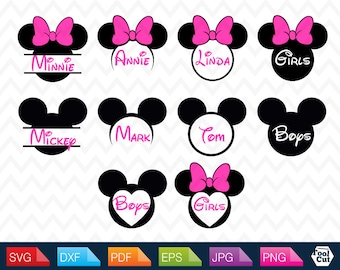 Mickey Mouse Monogram Svg Mickey Mouse Monogram Frame Svg Minnie Mouse Monogram Svg Cut Files Mickey Mouse Ears Svg Mickey Mouse Head Svg