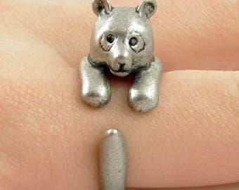 Silver Panda Ring