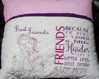 Best Friend Reading Pocket Pillow, Reading Pillow, Book Pillow, Pocket Pillow, Gift for Readers, Birthday Gift , Reading Pillow gift