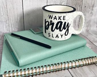 Wake Pray Slay / Stoneware Mug / Fall Mug / Winter Mug / Coffee Mug / Cute Coffee Mug
