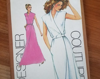 Simplicity 9518 Cathy Hardwick pattern size 12 vintage, out of print 1980 mock wrap front dress uncut