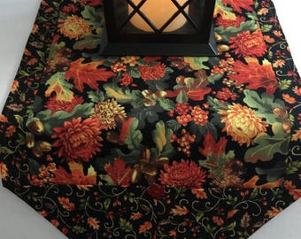 """Fall and Thanksgiving Table Runner, 12"""" x 43"""" or 12"""" x 72"""", Reversible"""