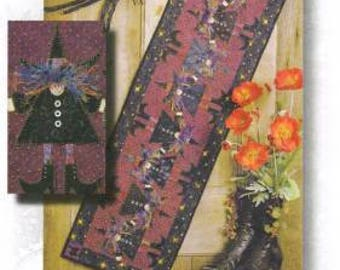 """Halloween Fall Witch pattern from Happy Hollow Designs - 14 x 46"""""""