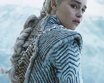Daenerys Targaryen fur coat season 7 cosplay Game of Thrones costume