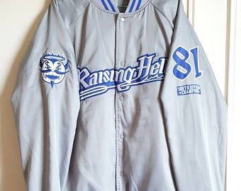 "Bomber / jacket snaps Nike ""Raising Hell St. Reatham Souls"" Vintage early 90-00 t XL like new Rare."