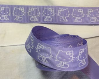 Ribbon wholesale GRAIN background-white cat lilac customisation