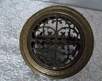Vintage Brass Air Vent Grill