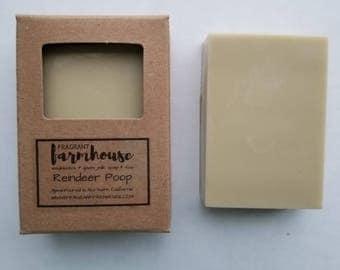 Reindeer Poop - Bar Soap - Goat Milk - Farmhouse - Natural Soap - Goat Milk Soap - Handmade Soap - Kid soap - Christmas Soap - Reindeer Soap