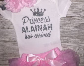 Baby Girl Take Home Outfit | Newborn Baby Girl Outfit | Glitter Bodysuit | Baby Girl Clothing |  Baby Shower Gift