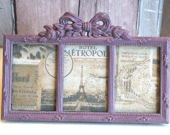 table top frames, ornate photo frame, small picture frames, upcycled frames, cottage chic frame, ornate frames, multi frame