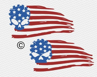 Distressed american flag svg, Usa svg, Patriotic svg, Skull svg, SVG Files, Cricut, Cameo, Cut file, Files, Clipart, Svg, DXF, Png, Pdf, Eps