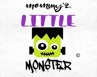 mommy's little monster SVG, Frankenstein SVG, Halloween SVG, Cricut, Silhouette, Cameo, png, eps, Dxf, monster svg, mommy's Monster franky