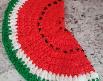 Crochet Watermelon Pot Holder/Summer Kitchen/Fruit Kitchen