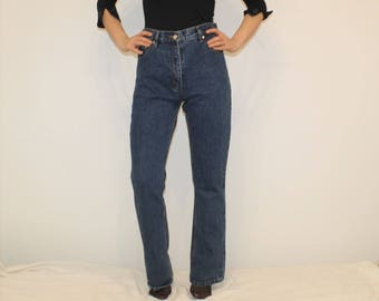 Vintage 90s Boyfriend Jeans High Waisted Straight Leg Cut Denim W31 L33 Blue Jeans Waist 30 W31 High Rise Waist Boyfriend Jeans Tapered