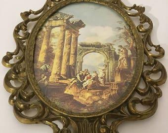 Oval Ornate Brass Wall Decor
