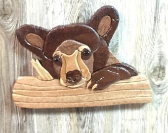 Intarsia Bear Cub