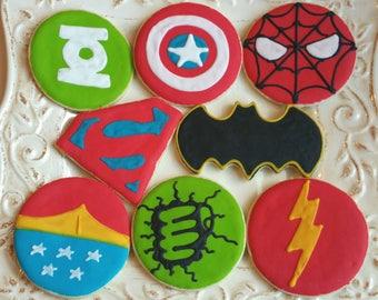 Super Hero Cookies 1 dozen