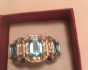 Beautiful Sky Blue Topaz Ring Size 7