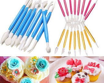 8 Piece Fondant Decorator Set, Cake Tools, bakeware, Cupcakes, Candy Apples