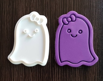 Cute Ghost Girl  Cookie Cutter and Stamp