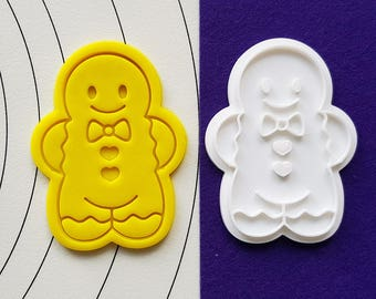 Gingerbread Boy Cookie Cutter and Stamp